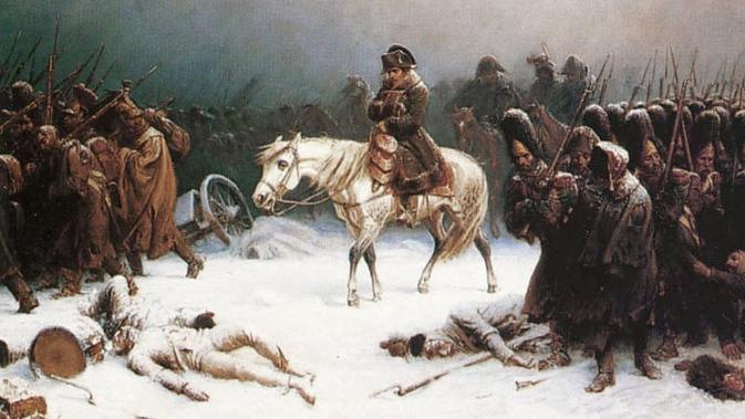 Invasi Napoleon Bonaparte ke Moskow, Rusia berujung pada kekalahan (Wikipedia)