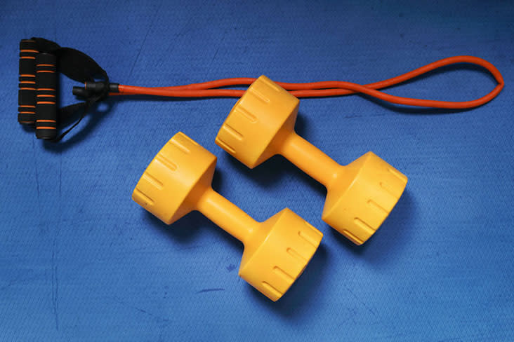 Those of us who didn't declutter along with Marie Kondo might discover hidden gems such as dumbbells in our storage