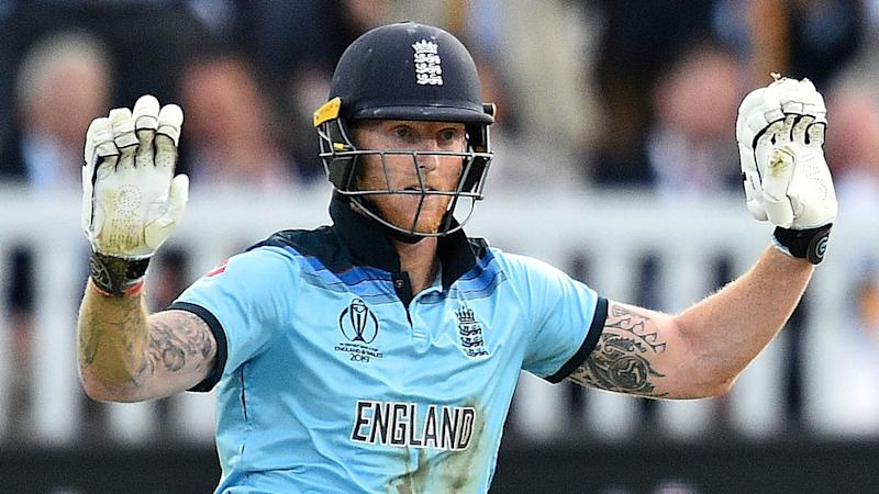 Ben Stokes put his hands up to apologise immediately after the bizarre overthrows incident. Pic: Getty