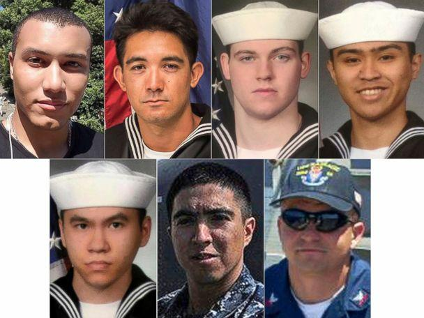 PHOTO: The seven U.S. sailors who died in a collision between the USS Fitzgerald and a container ship off Japan, June 17, 2017. (U.S. Navy via AP)