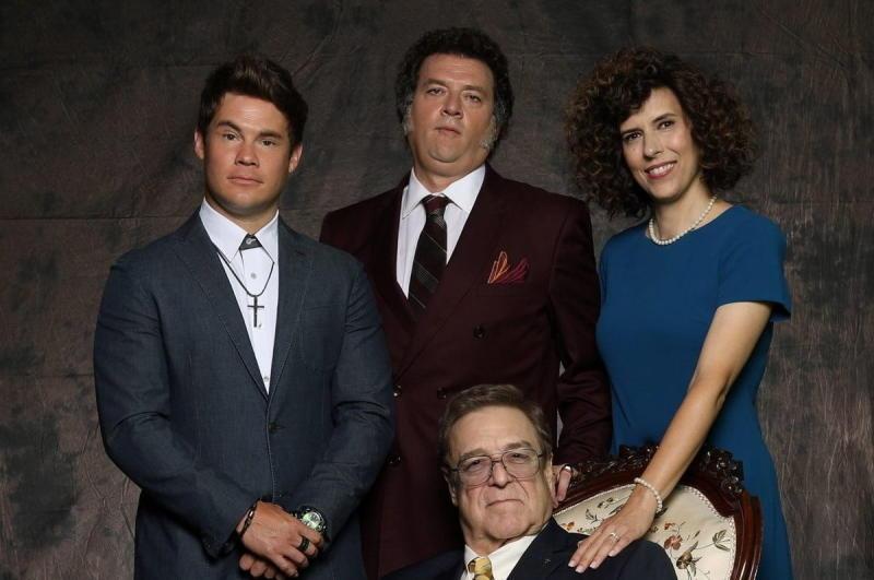 Adam Devine, Danny McBride, Edi Patterson, and John Goodman in The Righteous Gemstones