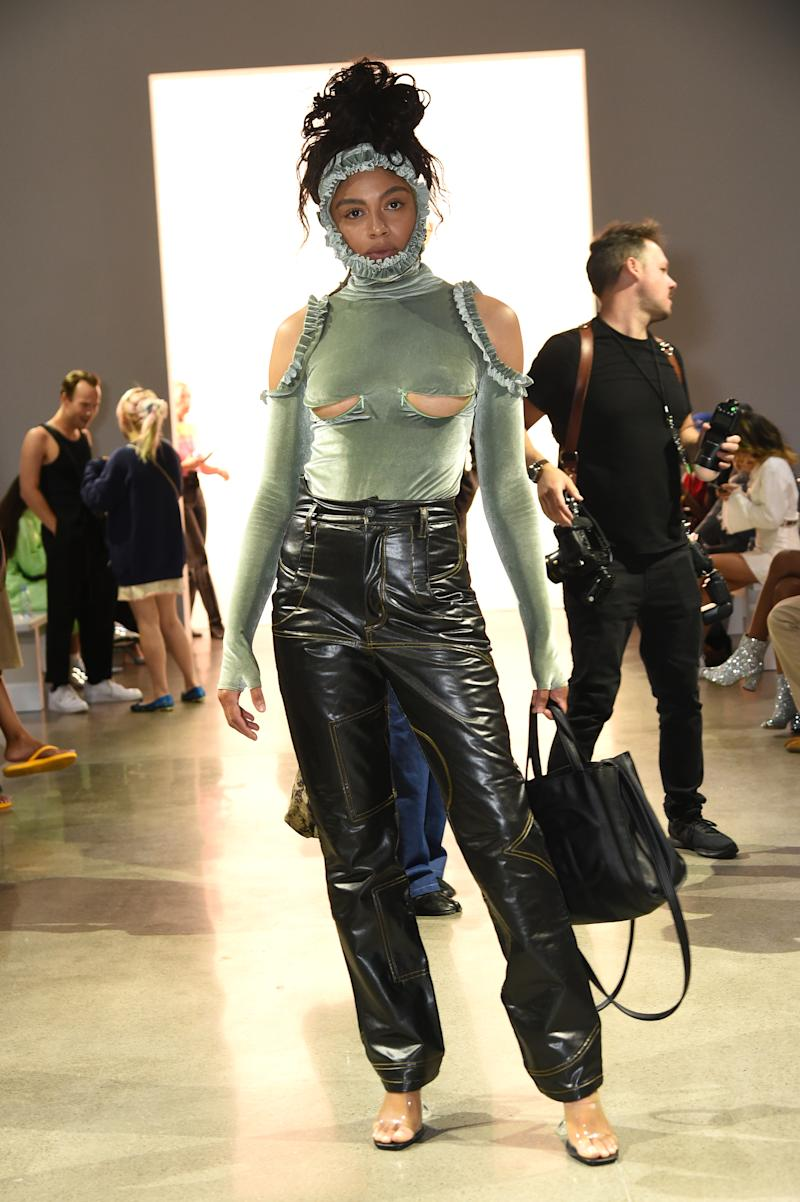 Musician Maluca attended the Barragan show New York Fashion Week. Photo: Getty