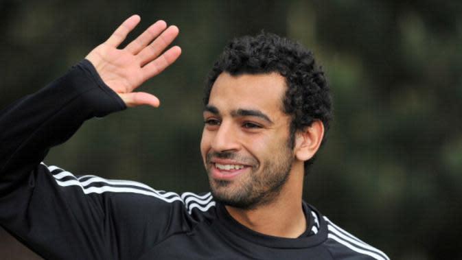 Mohamed Salah saat membela Chelsea. (AFP/Glyn Kirk)