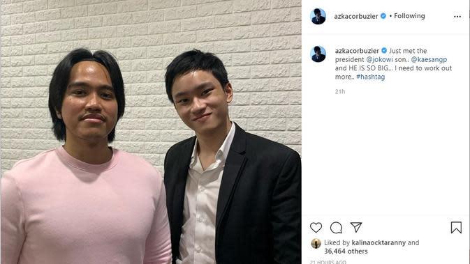 Kaesang Pangarep - Azka Corbuzier (Foto: Instagram/@azkacorbuzier)