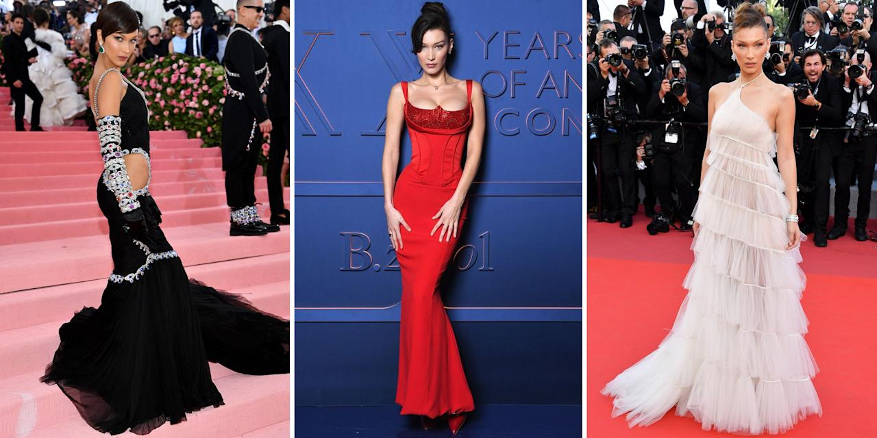 """<p>In the past couple of years, Bella Hadid has gone from <a href=""""http://www.harpersbazaar.com/fashion/street-style/g5973/gigi-hadid-style/"""" target=""""_blank"""">Gigi's</a> little sister to a full-fledged model in her own right. Besides walking big-name shows from Versace to Ralph Lauren, she's also flaunting some serious personal style—one that's equal parts sexy and sporty. Catch her in crop tops (with abs like hers, why not?) and track suits to thigh-high slit gowns and mini skirts. Flip through to track the rising model's hot off-duty style.</p>"""