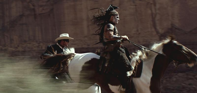 Exclusive: Johnny Depp Takes a Scary Fall Off His Horse While Shooting 'The Lone Ranger'