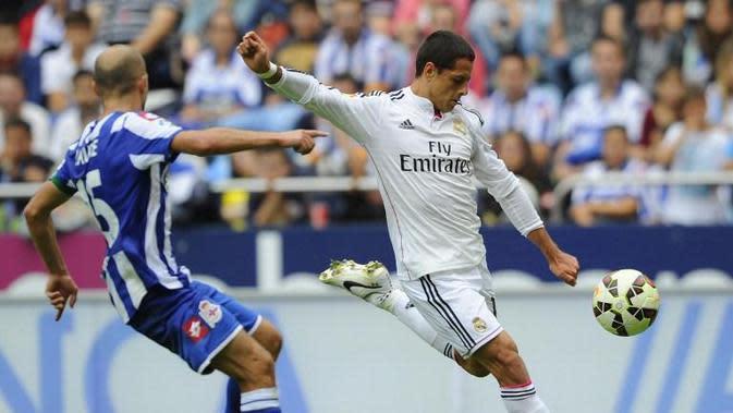 Penyerang Real Madrid, Javier 'Chicharito' Hernandez (Miguel Riopa/AFP)