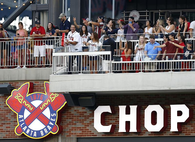 The chop has been an integral part of Braves games since 1991. (Getty)
