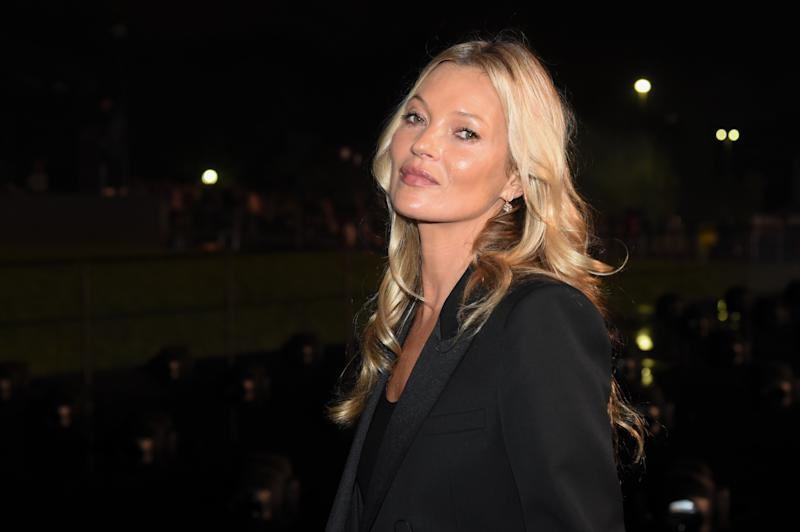 PARIS, FRANCE - SEPTEMBER 24: Kate Moss attends the Saint Laurent Womenswear Spring/Summer 2020 show as part of Paris Fashion Week on September 24, 2019 in Paris, France. (Photo by Stephane Cardinale - Corbis/Corbis via Getty Images)