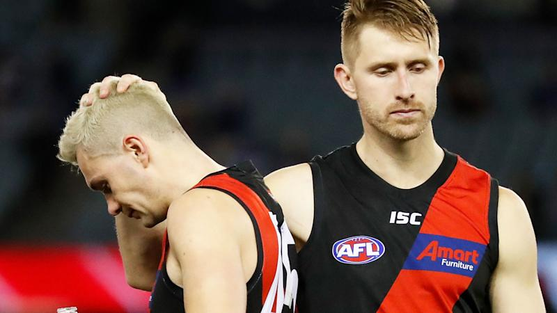 Shaun McKernan, pictured on the right, says Bombers fans were right to boo their team after an embarrassing display against the Bulldogs.
