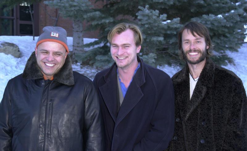 Joe Pantoliano, Christopher Nolan, & Guy Pearce (Photo by J. Vespa/WireImage)