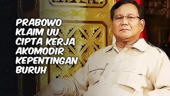 VIDEO TOP 3: Prabowo Klaim Kepentingan Buruh Diakomodir 80 Persen di Omnibus Law