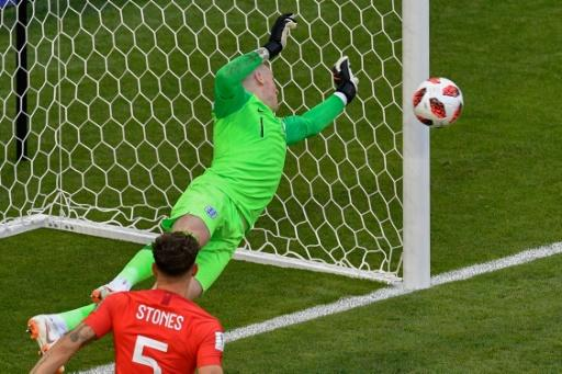 Jordan Pickford made three superb saves in the second half to keep England in front