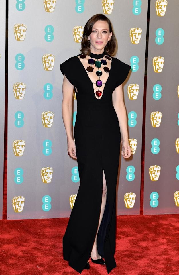 <p>Wearing Christopher Kane. Photo: Getty Images </p>