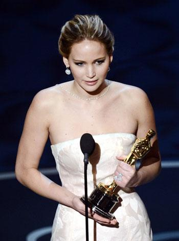 Jennifer Lawrence thanks Russell and Weinstein in Oscar acceptance speech addendum