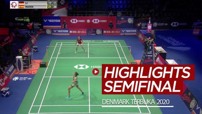 VIDEO: Highlights Semifinal Denmark Terbuka 2020, Carolina Marin dan Anders Antonsen ke Final