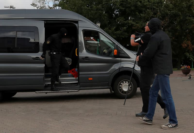 Belarus detains around 20 journalists preparing to cover protest - Reuters witness