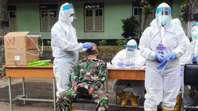 Pasien Positif COVID-19 di Secapa TNI AD Tinggal 114 Orang