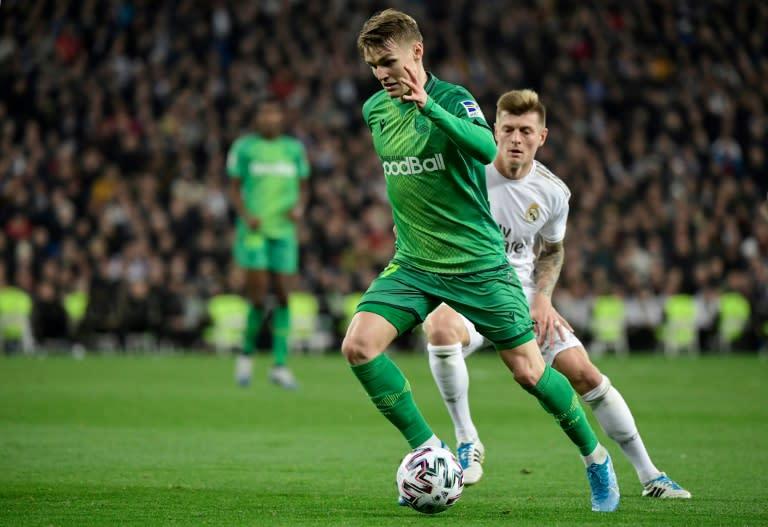 On-loan Real Madrid midfielder Odegaard inspired Sociedad to victory