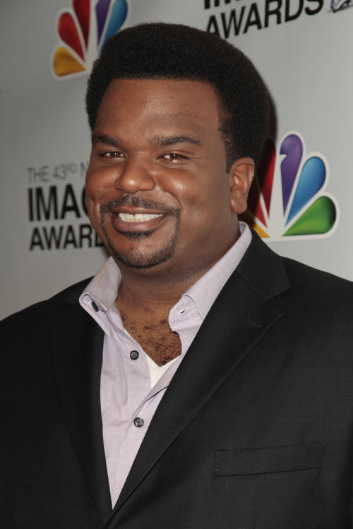 FILE - In this Jan. 19, 2012 file photo, actor Craig Robinson arrives at the nominations for the 43rd NAACP Image Awards, in Beverly Hills, Calif. Comic actor Craig Robinson was detained Wednesday, Oct. 9, 2013 for drug possession as he tried to leave the Bahamas and was ordered to pay a fine, authorities said. (AP Photo/Jason Redmond, File)