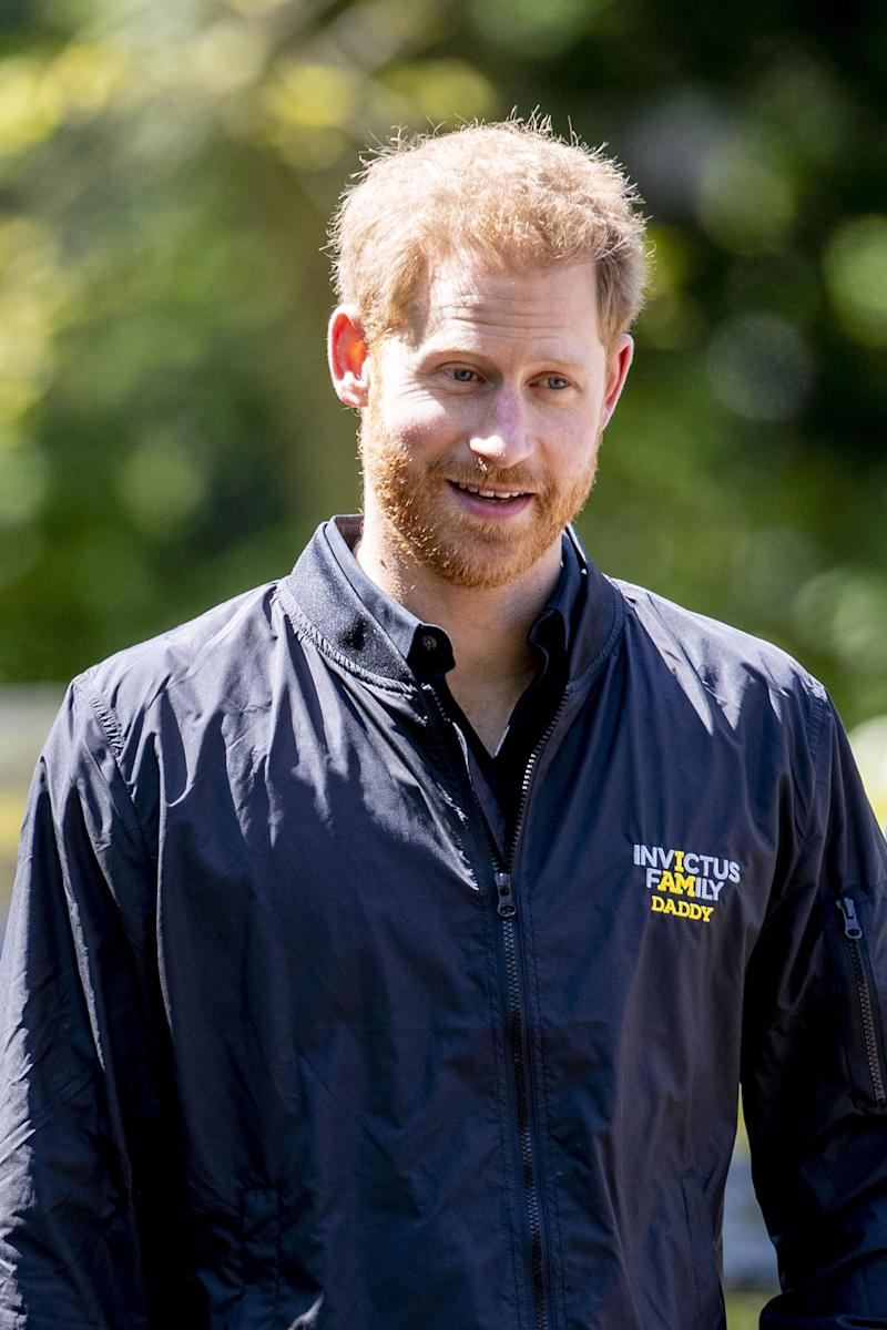 Prince Harry looks on during the presentation of the Invictus Games The Hague 2020, in The Hague, Netherlands, on May 9, 2019. - The fifth Invictus Games The Hague 2020, an international sporting event for wounded, injured and sick servicepersonnel, will be held in the Zuiderpark in 2020. (Photo by patrick van katwijk / ANP / AFP) / Netherlands OUT (Photo credit should read PATRICK VAN KATWIJK/AFP/Getty Images)