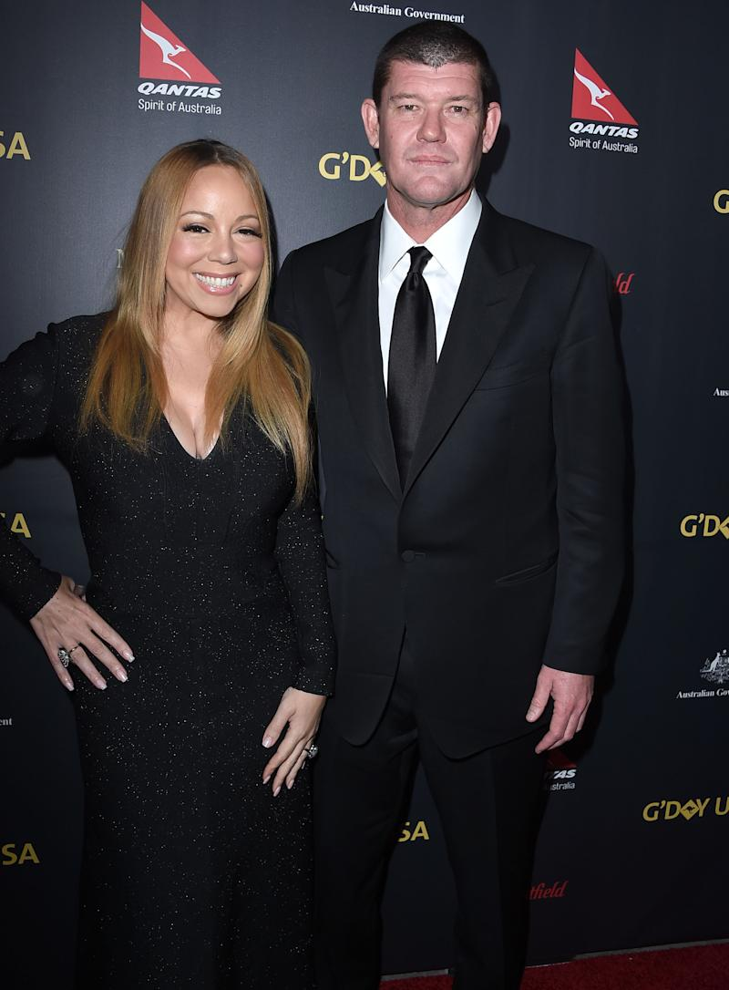 Mariah Carey pictured with James Packer
