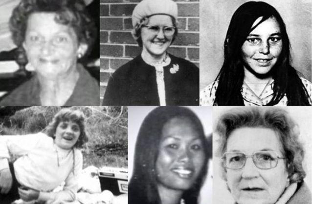 PICTURED: Top: (L) Allison Rooke, Bertha Miller, and Catherine Headland. Bottom: (L) Ann-Marie Sargent, Narumol Stephenson and Joy Summers. Source: Victoria Police.