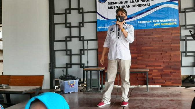 Ketua LAN Surabaya, Aldi Lazuardy (Foto: Liputan6.com/Dian Kurniawan)