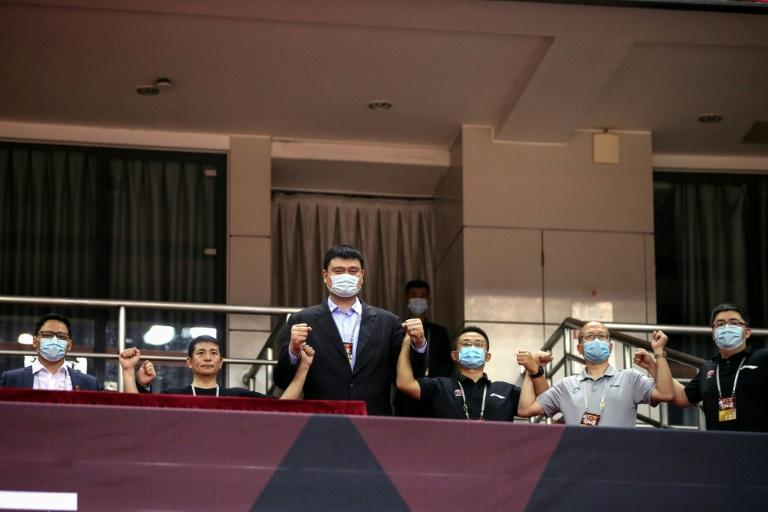 Yao Ming, president of the Chinese Basketball Association (CBA), was in the stands for the restart of the season