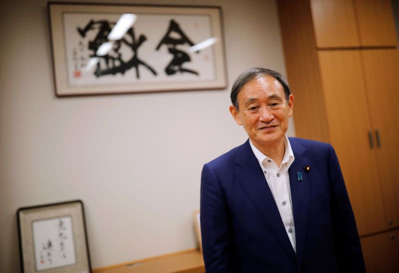 In race to replace Japan's Abe, loyalist Suga emerges as strong contender