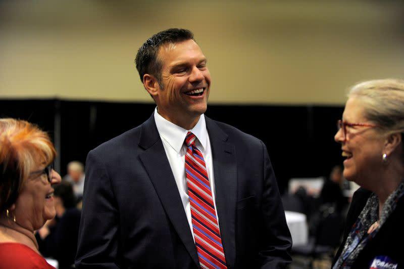 U.S. lawmaker Marshall beats Trump ally Kobach in Kansas primary race