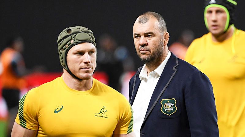Michael Cheika claims officials targeted David Pocock in the Wallabies' win over Japan.