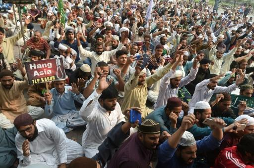 Hardline religious political parties protested the acquittal of Asia Bibi