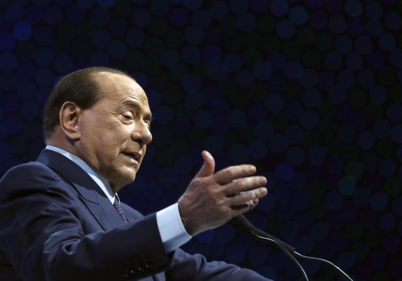 Virus Outbreak Italy Berlusconi