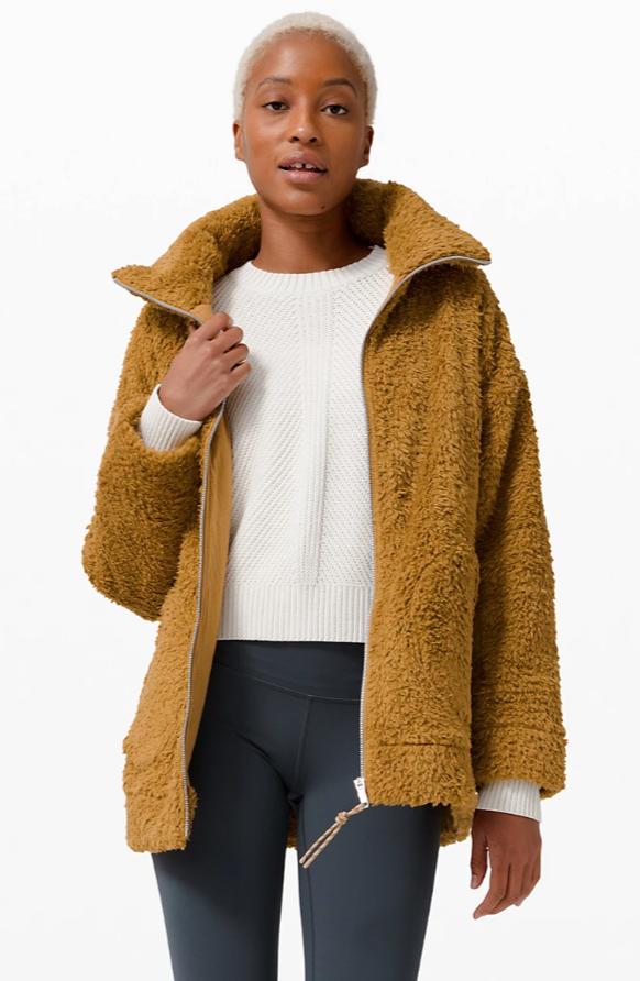 Lululemon Women's Oh So Sherpa Jacket in Spiced Bronze