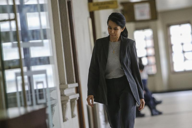 Former AmBank relationship manager Joanna Yu Ging Ping is seen at the Kuala Lumpur Court Complex July 22, 2019. — Picture by Hari Anggara