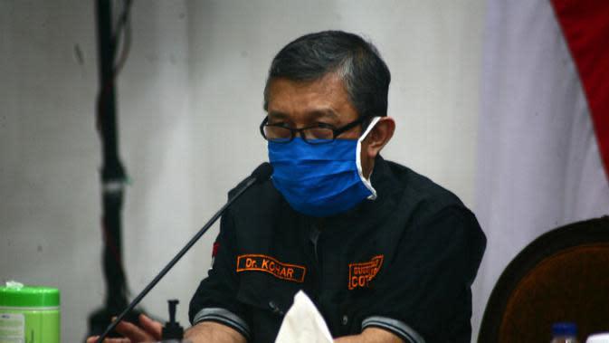 Ketua Rumpun Tracing Gugus Tugas Covid-19 Jatim, Kohar Hari Santoso (Foto: Liputan6.com/Dian Kurniawan)
