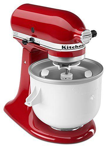 "<p><strong>KitchenAid</strong></p><p>amazon.com</p><p><strong>$99.87</strong></p><p><a href=""https://www.amazon.com/dp/B0002IES80?tag=syn-yahoo-20&ascsubtag=%5Bartid%7C10055.g.258%5Bsrc%7Cyahoo-us"" target=""_blank"">Shop Now</a></p><p>If you already own a KitchenAid stand mixer, you already have a great ice cream maker on hand. Just treat yourself to this <a href=""https://www.amazon.com/KitchenAid-KICA0WH-Cream-Maker-Attachment/dp/B0002IES80/?tag=syn-yahoo-20&ascsubtag=%5Bartid%7C10055.g.258%5Bsrc%7Cyahoo-us"" target=""_blank"">ice cream-making attachment</a>, which includes a mixer bowl that you pre-freeze, a dasher, and a device to turn the dasher. It whipped up the <strong>smoothest ice cream in our test,</strong> though it struggled with sorbet.</p>"