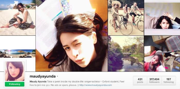 Maudy Ayunda instagram