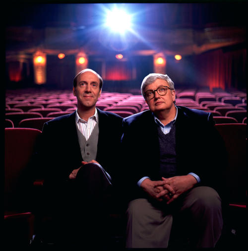 "FILE - This undated file photo originally released by Disney-ABC Domestic Television, shows movie critics Roger Ebert, right, and Gene Siskel. The Chicago Sun-Times is reporting that its film critic Roger Ebert died on Thursday, April 4, 2013. He was 70. Ebert and Siskel, who died in 1999, trademarked the ""two thumbs up"" phrase. (AP Photo/Disney-ABC Domestic Television)"