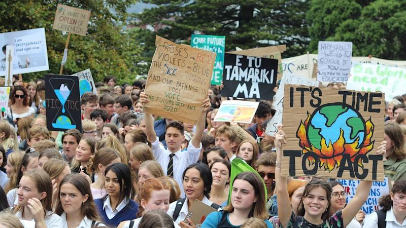 Thousands of students across New Zealand skipped class to call for greater action on climate change