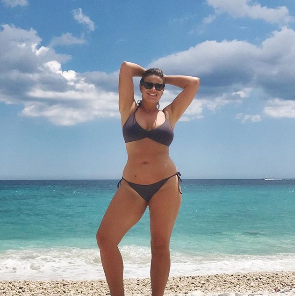 """<p>The former Biggest Loser contestant posted a throwback photo on Instagram, pining after the Italian sun. """"Take me back to Sardinia,"""" the 36-year-old captioned the snap of her at a beach in Italy. Source: Instagram/Fiona Falkiner<br /></p>"""