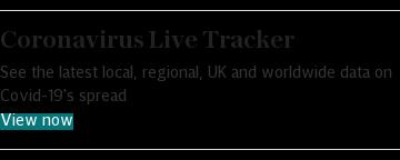 Coronavirus Live Tracker promo embed