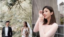 恭喜!林逸欣閃嫁圈外男友Tony 公開超美低胸爆乳婚紗