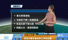 一分鐘報天氣 / 週六(11/28日)  東北季風漸強 晚起北東濕冷