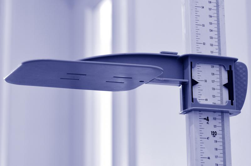 Stadiometer - human height measuring devices. close up. Concept photo of medical, lifestyle, height and growth.
