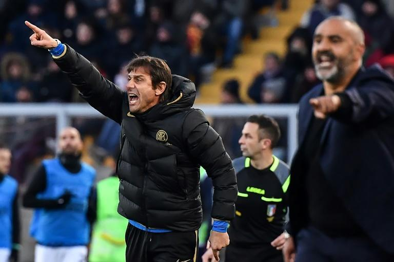 Antonio Conte's Inter Milan were held 1-1 at his hometown club Lecce