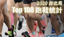【跑鞋研究室】2020 台北馬全馬 Top 100 跑鞋統計