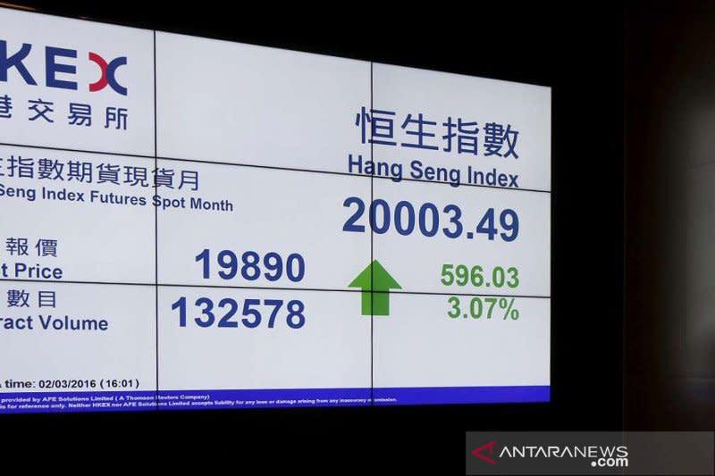 Saham Hong Kong dibuka lebih tinggi, indeks HSI menguat 0,33 persen