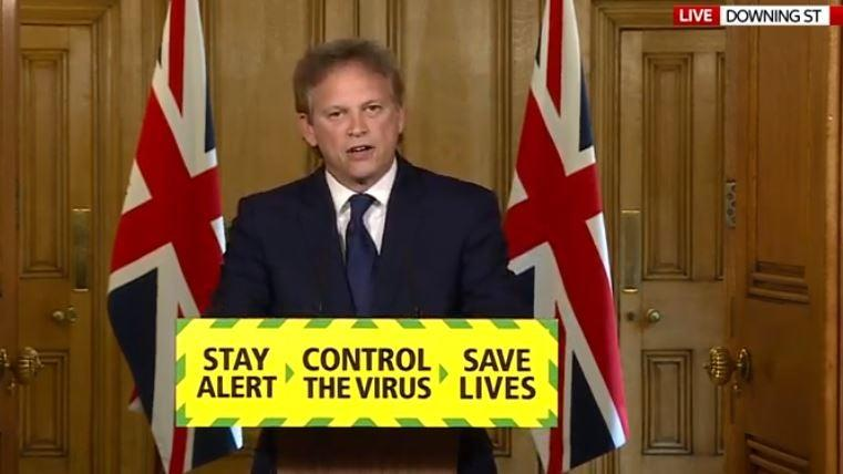 Grant Shapps defended the test and trace scheme this morning (10 Downing Street)